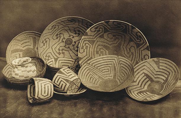 Pima Baskets, 1907