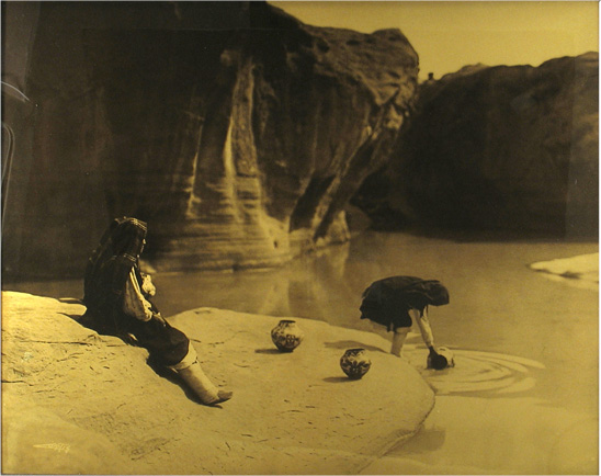 At the Old Well - Acoma, 1904